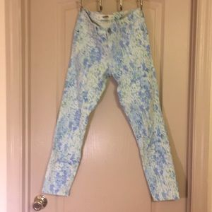 Abercrombie & Fitch Blue Floral Jegging